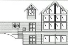 Craftsman Exterior - Rear Elevation Plan #117-472