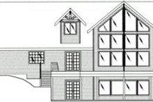 Architectural House Design - Craftsman Exterior - Rear Elevation Plan #117-472