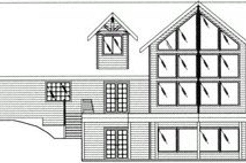 Craftsman Exterior - Rear Elevation Plan #117-472 - Houseplans.com