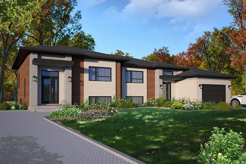 Home Plan - Modern Exterior - Front Elevation Plan #23-2640