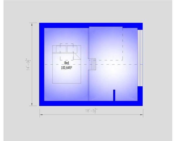 Modern Floor Plan - Upper Floor Plan #549-33