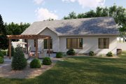 Cottage Style House Plan - 3 Beds 2 Baths 1701 Sq/Ft Plan #455-223 Exterior - Rear Elevation