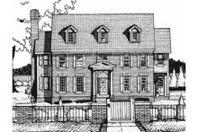 Home Plan Design - Colonial Exterior - Front Elevation Plan #20-1127
