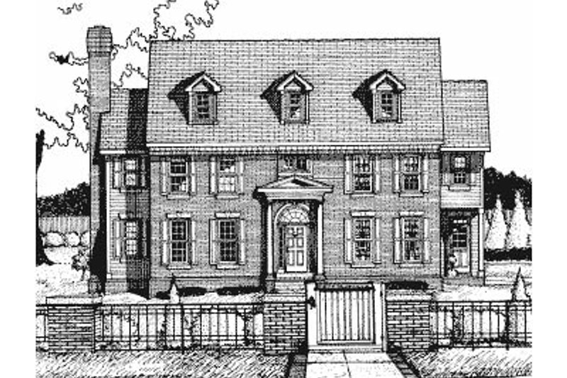Colonial Exterior - Front Elevation Plan #20-1127