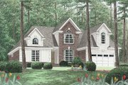 Traditional Style House Plan - 3 Beds 2.5 Baths 2204 Sq/Ft Plan #34-114 Exterior - Front Elevation