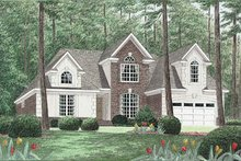 Dream House Plan - Traditional Exterior - Front Elevation Plan #34-114