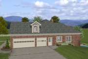 Craftsman Style House Plan - 4 Beds 2.5 Baths 2000 Sq/Ft Plan #56-576 Exterior - Other Elevation