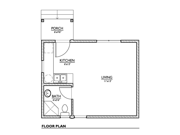 Modern Floor Plan - Main Floor Plan Plan #890-2