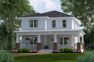 Craftsman Exterior - Front Elevation Plan #461-45