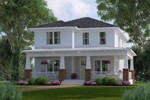 Craftsman Exterior - Front Elevation Plan #461-45