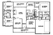 Country Style House Plan - 3 Beds 2 Baths 2136 Sq/Ft Plan #935-1 Floor Plan - Main Floor Plan