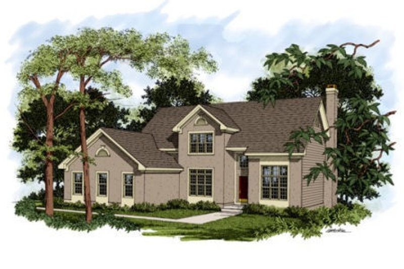 Traditional Exterior - Front Elevation Plan #56-173