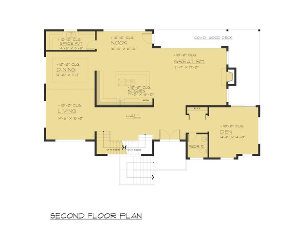 Modern Floor Plan - Main Floor Plan #1066-84