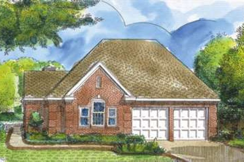 European Exterior - Front Elevation Plan #410-214