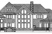 Tudor Style House Plan - 4 Beds 3 Baths 3797 Sq/Ft Plan #413-114 Exterior - Rear Elevation