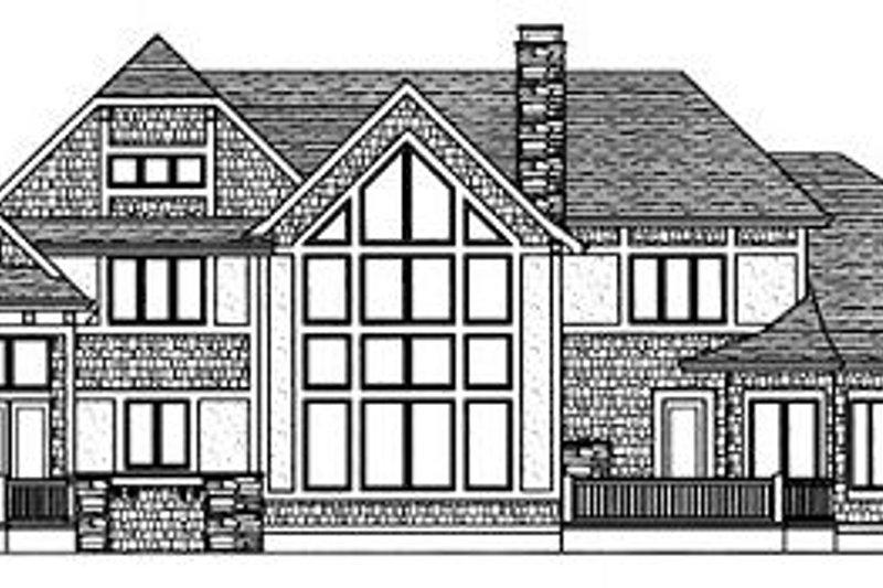 Tudor Exterior - Rear Elevation Plan #413-114 - Houseplans.com