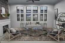 Dream House Plan - European Interior - Family Room Plan #1060-75