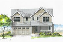 Craftsman Exterior - Front Elevation Plan #53-605