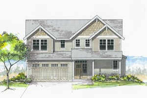 House Plan Design - Craftsman Exterior - Front Elevation Plan #53-605