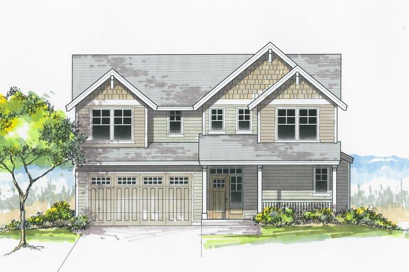 House Plan Design - Craftsman Exterior - Front Elevation Plan #53-605