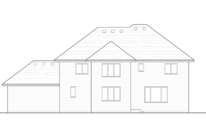 Traditional Exterior - Rear Elevation Plan #51-404 - Houseplans.com