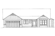 Craftsman Style House Plan - 4 Beds 2.5 Baths 2091 Sq/Ft Plan #133-109 Exterior - Front Elevation