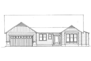 Craftsman Exterior - Front Elevation Plan #133-109