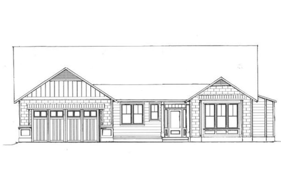 Craftsman Exterior - Front Elevation Plan #133-109
