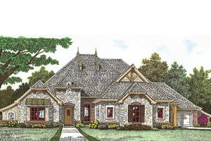 Tudor Exterior - Front Elevation Plan #310-967