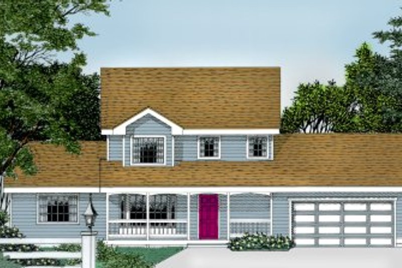 Traditional Style House Plan - 4 Beds 2.5 Baths 1795 Sq/Ft Plan #99-204 Exterior - Front Elevation