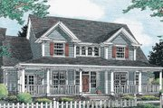 Country Style House Plan - 3 Beds 2.5 Baths 2185 Sq/Ft Plan #20-333 Exterior - Front Elevation