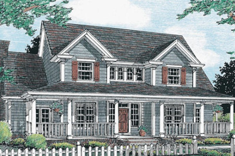 Architectural House Design - Country Exterior - Front Elevation Plan #20-333