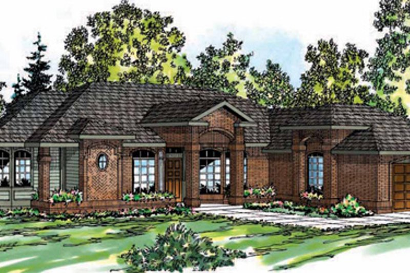 Modern Style House Plan - 3 Beds 2.5 Baths 2396 Sq/Ft Plan #124-150 Exterior - Front Elevation