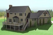 Country Style House Plan - 3 Beds 2.5 Baths 2214 Sq/Ft Plan #75-185 Exterior - Rear Elevation