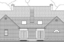 Southern Exterior - Rear Elevation Plan #406-189