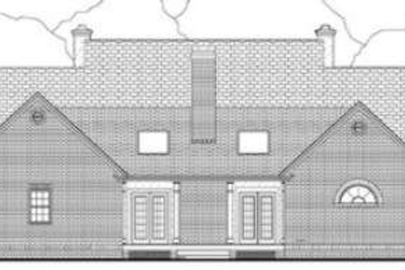 Southern Exterior - Rear Elevation Plan #406-189 - Houseplans.com
