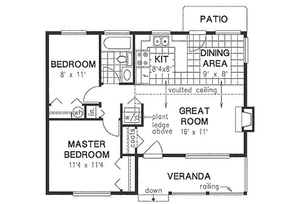House Design - Country Floor Plan - Main Floor Plan #18-1039