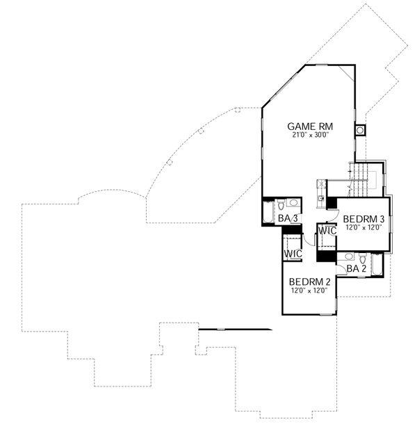 Mediterranean Floor Plan - Upper Floor Plan Plan #80-212