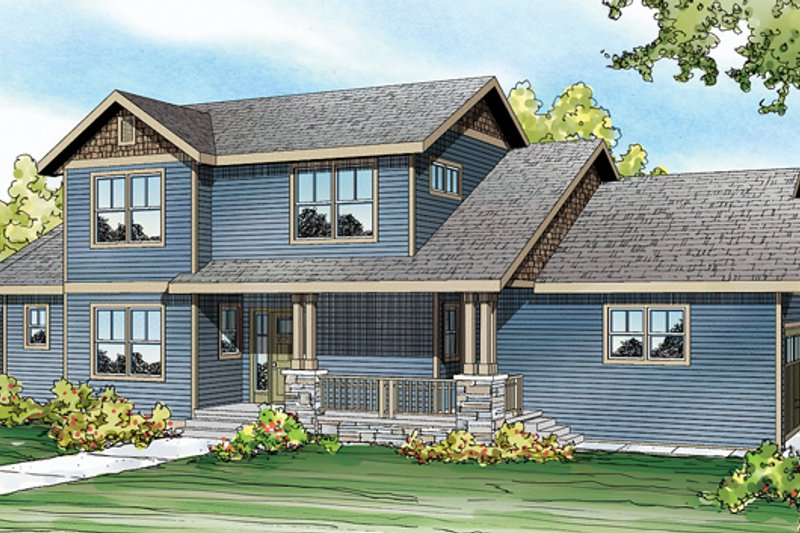 Country Exterior - Front Elevation Plan #124-882
