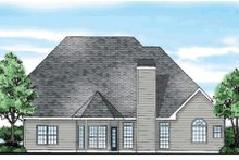 Dream House Plan - Traditional Exterior - Rear Elevation Plan #927-10