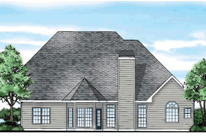 Traditional Exterior - Rear Elevation Plan #927-10 - Houseplans.com