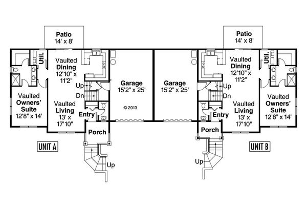 Craftsman Floor Plan - Main Floor Plan Plan #124-1076