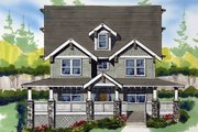 Craftsman Style House Plan - 3 Beds 2.5 Baths 3621 Sq/Ft Plan #509-35 Exterior - Other Elevation