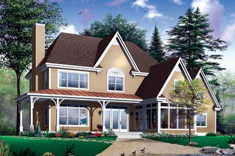 Home Plan - Traditional Exterior - Front Elevation Plan #23-2173