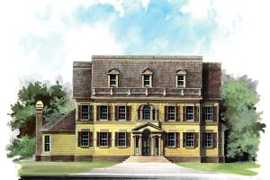 Colonial Exterior - Front Elevation Plan #119-147
