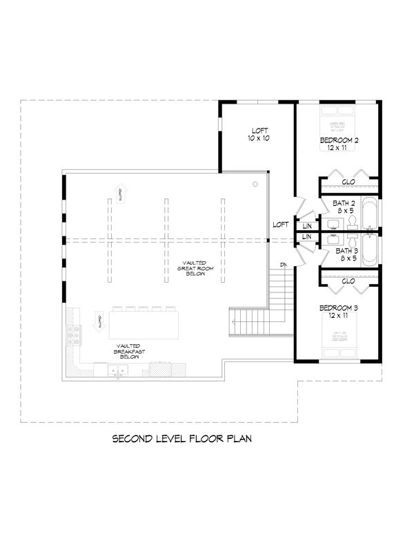 Country Floor Plan - Upper Floor Plan Plan #932-59