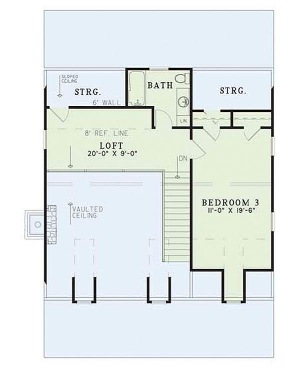 Country Floor Plan - Upper Floor Plan #17-2014