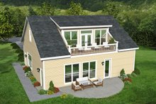 Country Exterior - Rear Elevation Plan #932-183