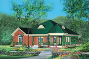 Country Style House Plan - 2 Beds 2 Baths 1736 Sq/Ft Plan #25-1158 Exterior - Front Elevation