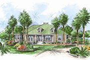 Beach Style House Plan - 3 Beds 4.5 Baths 2522 Sq/Ft Plan #27-437 Exterior - Front Elevation